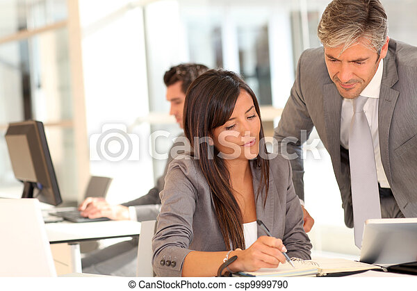 Business people meeting in office - csp9999790
