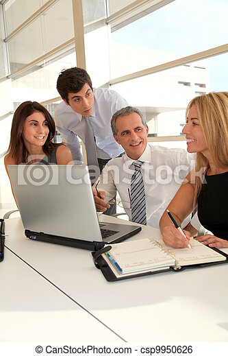 Business people meeting in the office - csp9950626