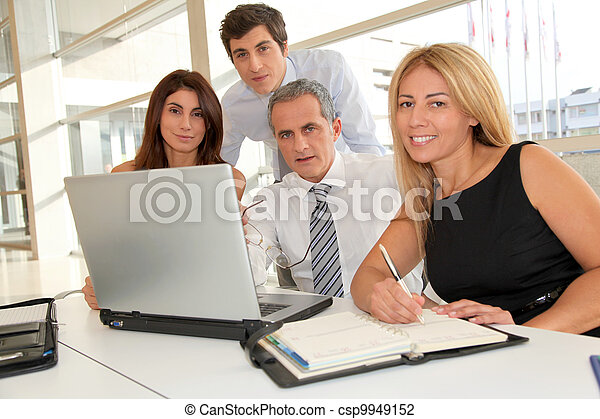 Business people meeting in the office - csp9949152