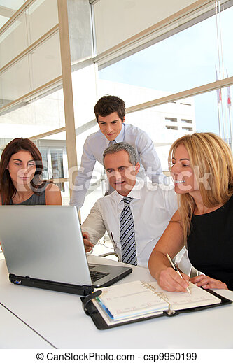 Business people meeting in the office - csp9950199