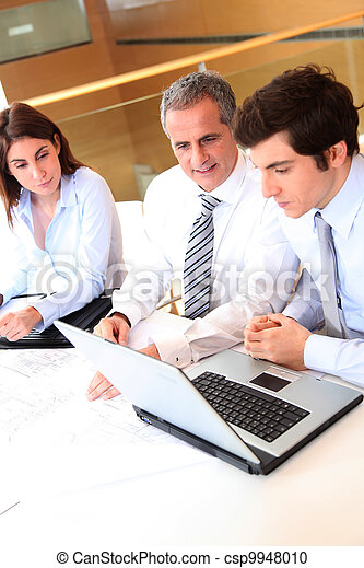 Business people meeting in the office - csp9948010