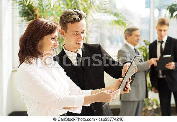 Business people meeting  - csp33774246