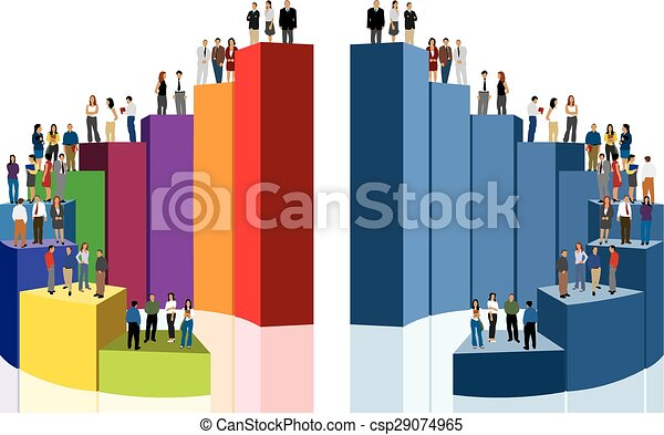 business people over chart - csp29074965