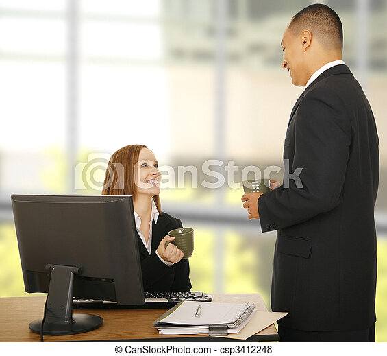 Business People Relaxing In Office - csp3412248