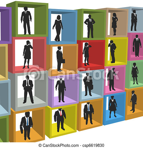 Business people resources office cubicle boxes - csp6619830