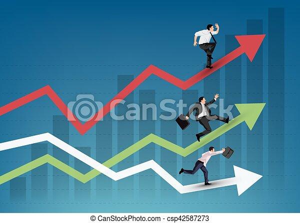 Business people running - csp42587273