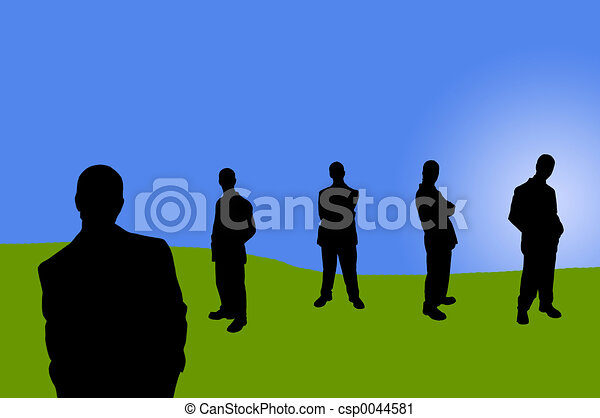 business people shadows - csp0044581