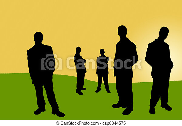 business people shadows - csp0044575