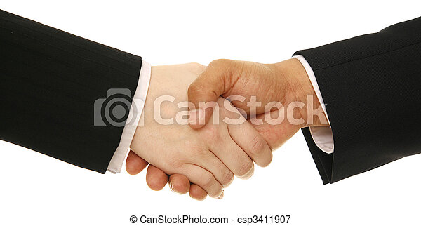 Business People Shake Hand - csp3411907