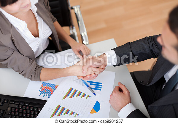 Business people shaking hands - csp9201257
