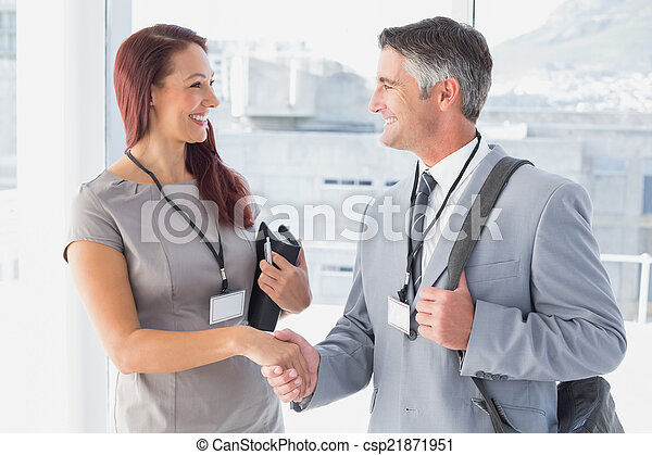 Business people shaking hands - csp21871951