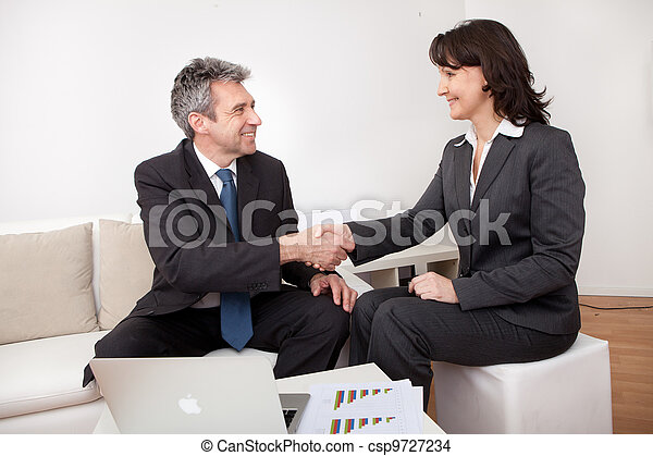 Business people shaking hands - csp9727234