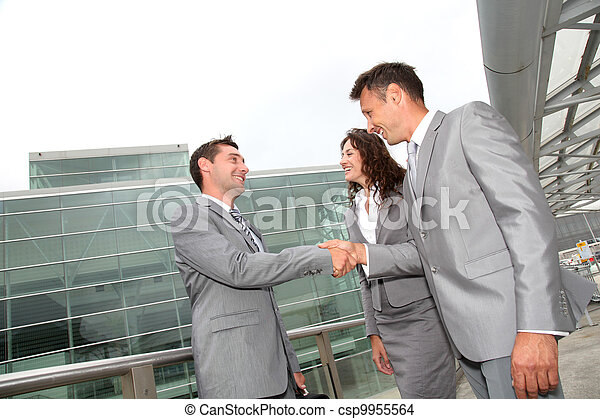 Business people shaking hands - csp9955564