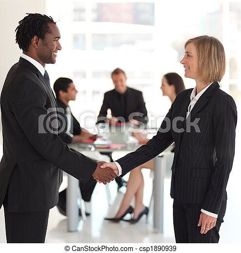 Business people shaking hands - csp1890939