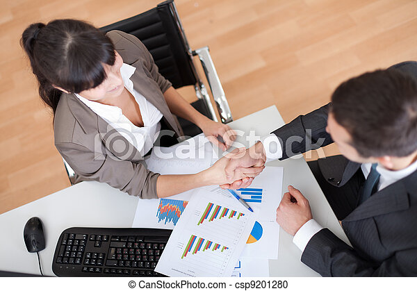 Business people shaking hands - csp9201280