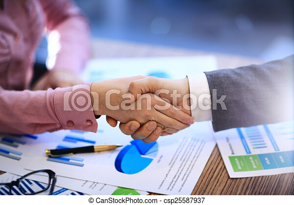 Business people shaking hands - csp25587937