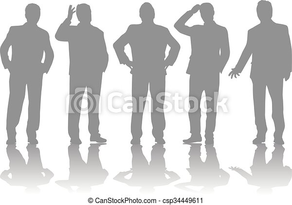 Business people. Silhouettes conceptual. - csp34449611