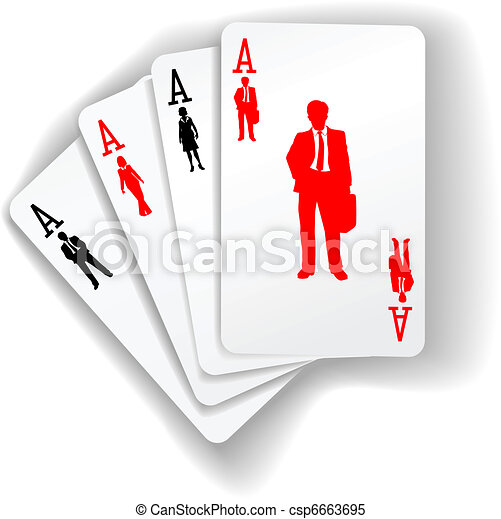 Business People Suits Resources Playing Cards - csp6663695