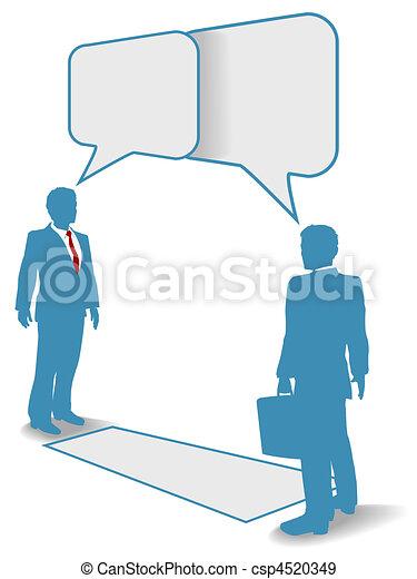 Business people talk meet connect communication - csp4520349