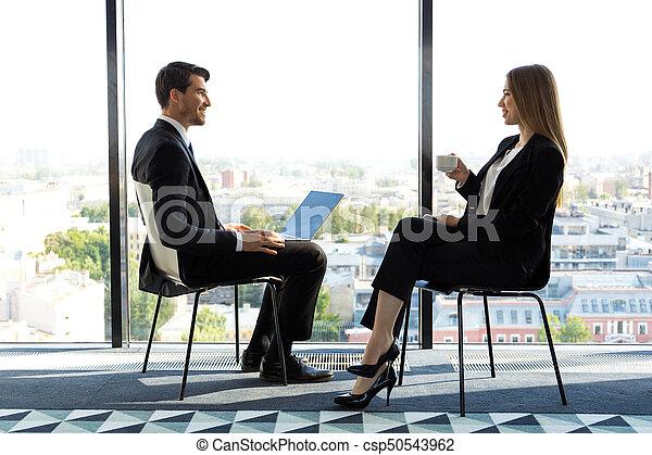 Business people talking - csp50543962