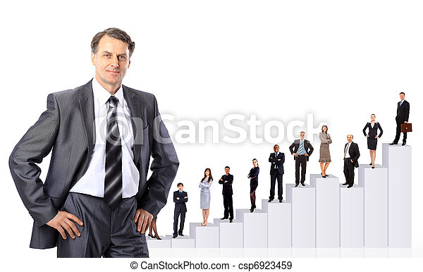 Business people team and diagram.  - csp6923459