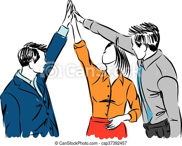 business people team work group illustration clipart vector search rh canstockphoto com  small group work clipart