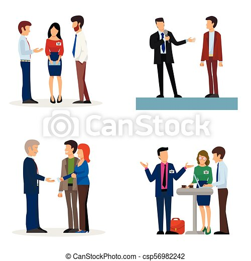 business people vector groups presentation to investors eps rh canstockphoto com