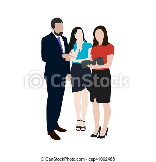 business people vector illustration group of two women and rh canstockphoto com business clip art free downloads microsoft business clip art free downloads microsoft