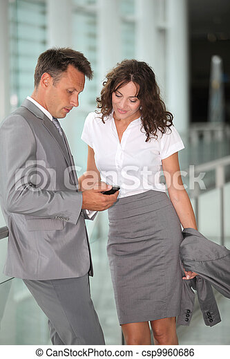 Business people waiting at the airport - csp9960686