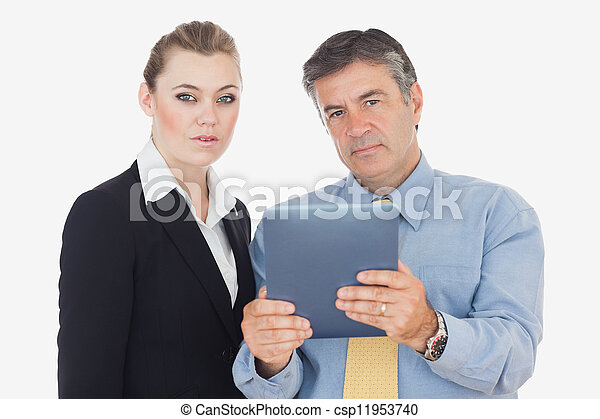 Business people with digital tablet - csp11953740