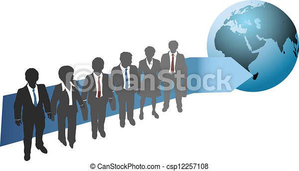Business people work for global future - csp12257108