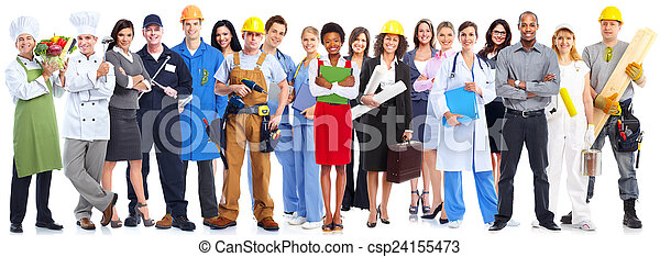 Business people workers group. - csp24155473