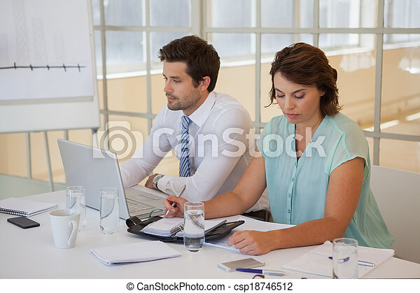 Business people working in the office - csp18746512