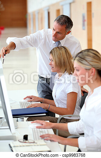 Business people working in the office - csp9983768