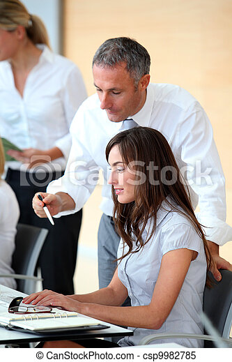 Business people working in the office - csp9982785