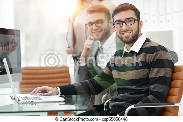 Business people working in the office - csp55056448