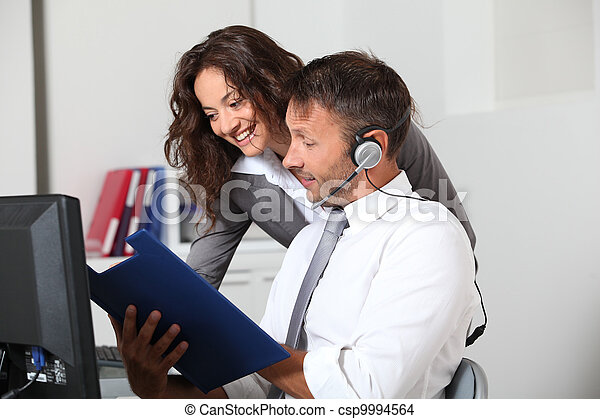 Business people working in the office - csp9994564