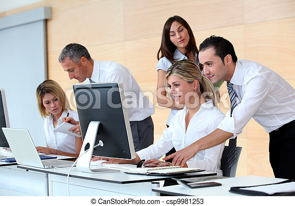Business people working in the office - csp9981253