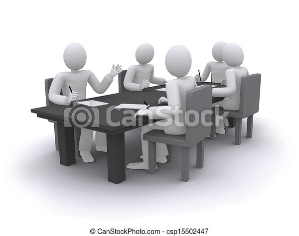 business people working, sitting at the table - csp15502447