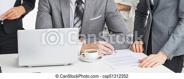Business people working - csp51312352