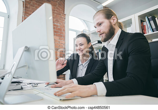 Business people working together - csp44850561