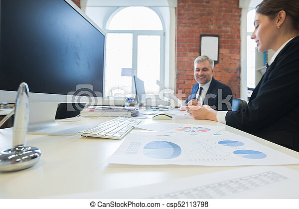 Business people working together - csp52113798