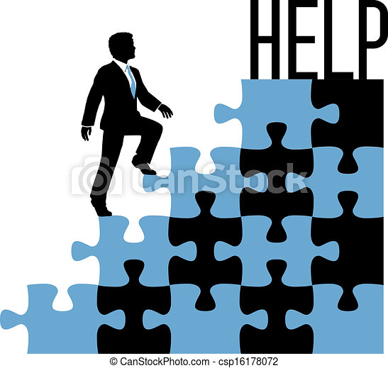 Business person find help solution - csp16178072