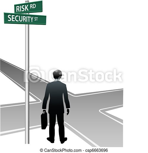 Business person signs street future decision choice - csp6663696