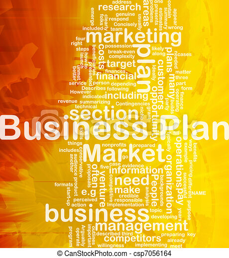 Business plan background concept