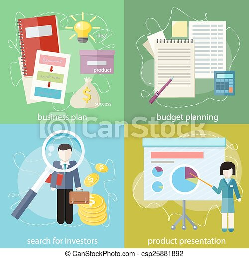 Business plan, budget planning, search investors - csp25881892