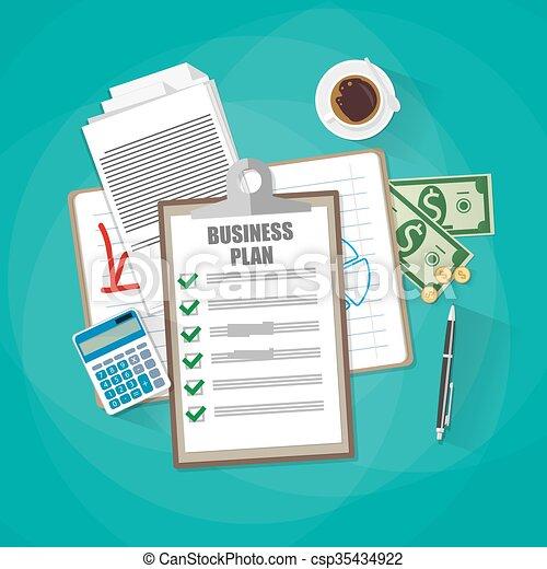 Business plan concept - csp35434922