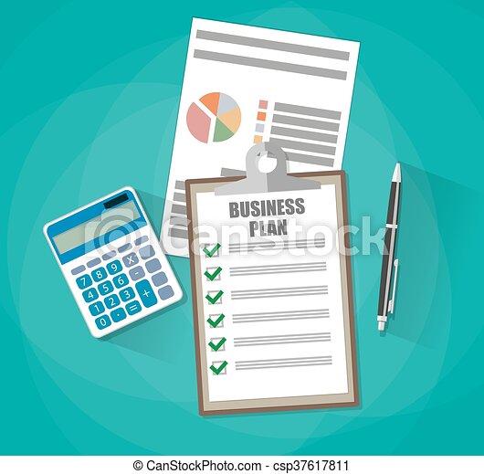 Business plan concept - csp37617811