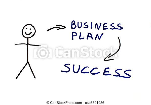 Business plan conception illustration - csp8391936