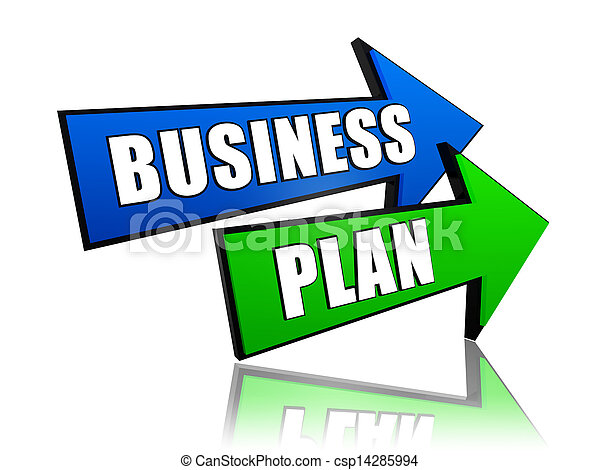 business plan in arrows - csp14285994